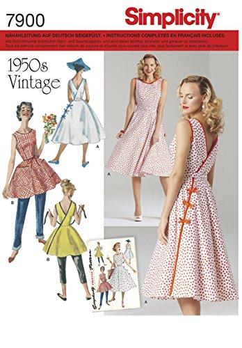 7900 Damen Vintagekleid 50er Jahre, Simplicity, R5 (40 - 48)