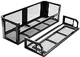 Nightcore ATV/UTV Rear Drop Rack Basket, Universal Steel Mesh Surface Cargo Storage Basket, Detachable Steel Cargo Basket Carrier