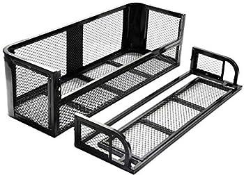 Nightcore ATV/UTV Rear Drop Rack Basket Universal Steel Mesh Surface Cargo Storage Basket Detachable Steel Cargo Basket Carrier