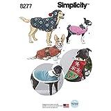 Simplicity 8277 Festive Fleece Christmas Dog Coat Sewing Pattern, Sizes S-L