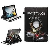 NAUC Tablettasche kompatibel für Medion Lifetab E10714 E10430 E10414 E10604 E10412 E10511 E10513 Tablet Tasche Hülle Universal Schutzhülle Drehbar, Farben:Motiv 9