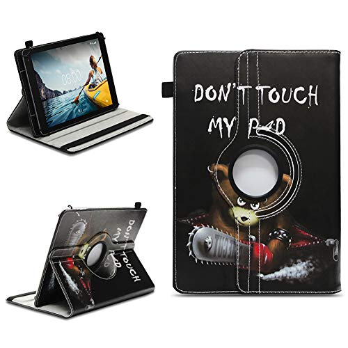 NAUC Tablet Schutzhülle kompatibel für Medion E6912 aus hochwertigem Kunstleder Hülle Tasche Standfunktion 360° Drehbar kombiniert Schutz & Design Cover Hülle Universal, Farben:Motiv 9