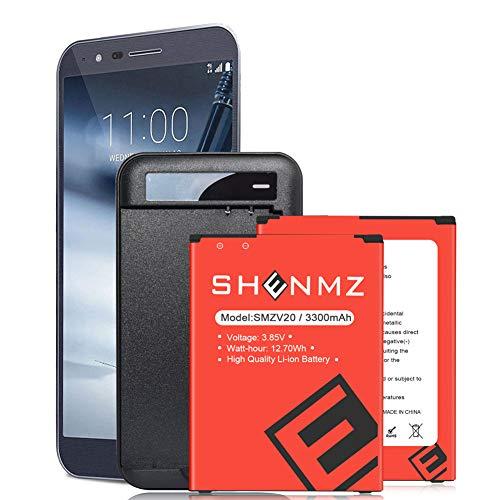 SHENMZ LG V20 Battery Charger,2X3380mAh BL-44E1F Li-Polymer Replacement Battery for LG V20 BL-44E1F H910 H918 LS997 US996 VS995/V20 BL-44E1F -24-Month Service