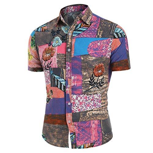 Herren Hemd Strandhemd Hawaiihemd Kurzarm 3D Gedruckt Strand Hemden Urlaub Hemd Freizeit Reise Hemd Party Hemd T- Shirts
