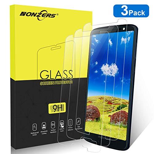 NONZERS Panzerglas Schutzfolie für Motorola Moto G6 Panzerglas [3 Stück], Panzerglasfolie, [2.5D abger&ete Kanten], [ Anti-Kratzen], [Anti-Fingerabdruck], [Anti-Öl], [HD Ultra], Transparent