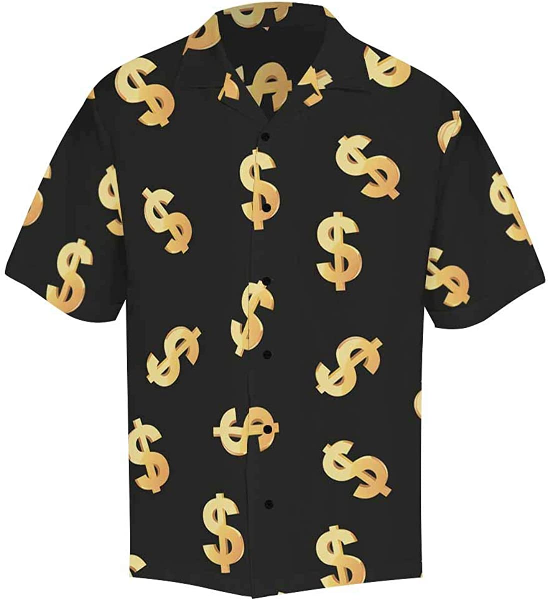 InterestPrint Men's Casual Button Down Short Sleeve Funny Dog Hawaiian Shirt (S-5XL)