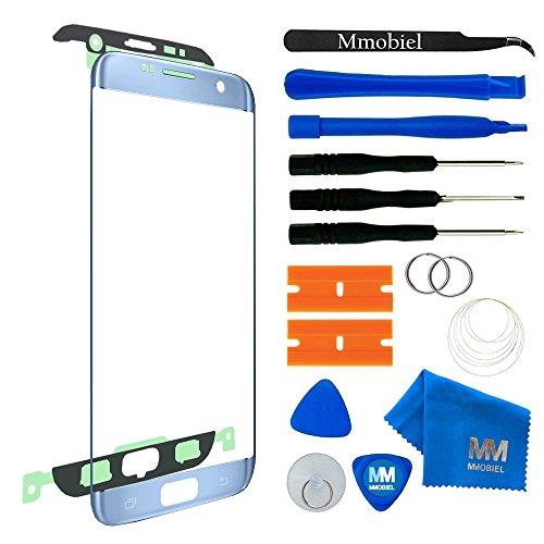 MMOBIEL Front Glas Display Scherm Compatibel met Samsung Galaxy S7 Edge (blauw) - incl. Tools