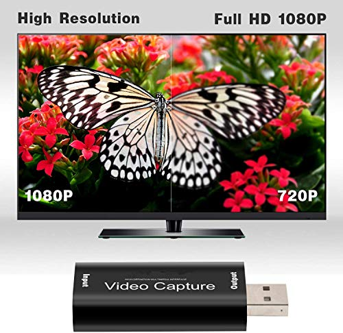 Y&H HDMI Video Capture Card HD 1080P Video Record via DSLR,Camcorder,Action Cam,Support Broadcast Live Streaming