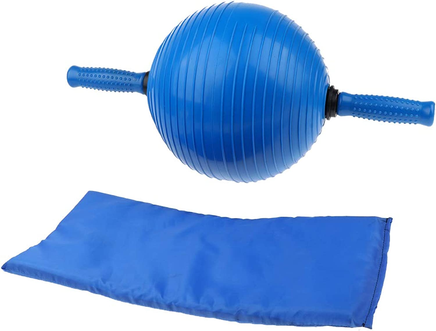 Homyl Fitness Exercise Tool Abdominal Training Ball with AntiSlip Handle+Knee Pad Helps Build and Tone Your Abdominal, Arms & Back