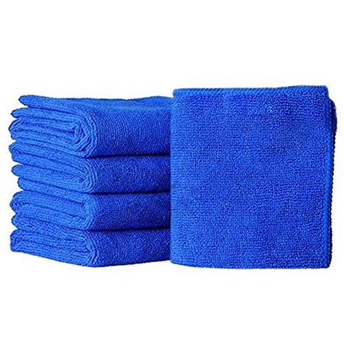 Thdzcp Hogar Plato Toalla de 25 cm x 25 cm de Limpieza de Microfibra Belleza Coche paño Suave paño de Cocina Polvo Azul Toallas de Cocina (Color : 5 PCS)