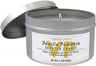 Trader Joes Natural Soy Vanilla Pumpkin Scented Candle