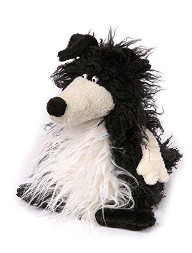 sigikid, Kuscheltier für Erwachsene und Kinder, Hund, Taco Tuesday, Sweet Beasts, Schwarz-weiß, 22 x 15 x 15 cm