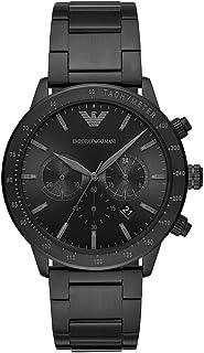 ساعة إمبريو أرماني انالوج مينا سوداء عقارب سوداء للرجال - AR11242