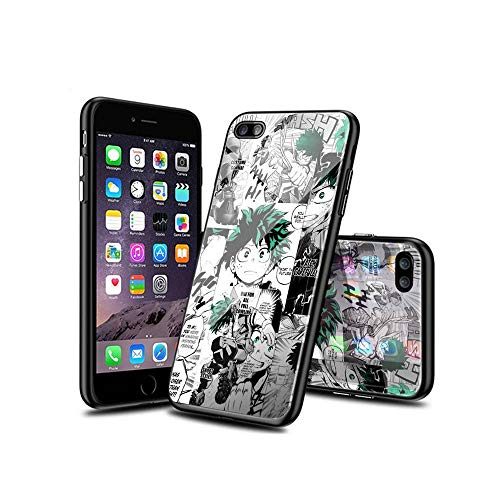 WuSzlON Compatible con iPhone 8 Funda, iPhone 7 Funda, Cristal Templado Delgado, Resistente a los arañazos, Suave Borde de TPU anticaídas para iPhone 8 / iPhone 7 D 004