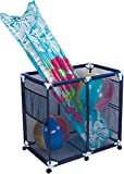 Trademark Innovations Rolling Toys and Accessories Pool Storage Cart, Blue