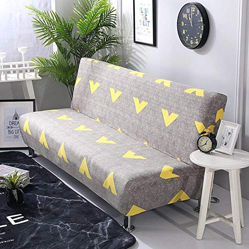 iBaste–Funda de sofá sofá funda sin reposabrazos Dormir sofá sofá husse con Stretch–Funda Slip Cover sofá protectora para sofá colchón sofá Slip Covers 160cm-190cm G