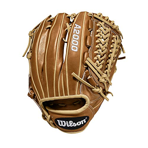 Wilson A2000 11.75-Inch SuperSkin Baseball Glove, Saddle Tan/Blonde, Left (Right Hand Throw)