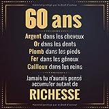 60 ans: Livre d'or pour anniversaire - Soixantaine | Cadeau personnalisable à...