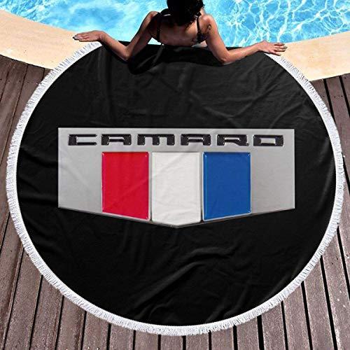Leo-Shop Saunatuch 59 'Runde Strandtuch Decke - große Polyester Roundie Kreis Picknick Teppich Yoga Matte (Camaro Performance Car)