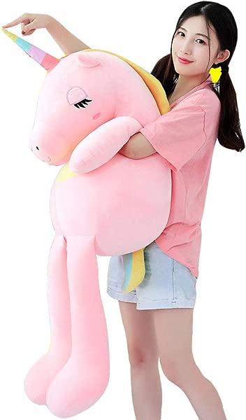 Misslight Baby Kids Rainbow Unicorn Plush Toy Stuffed Animal Soft Doll Comfortable Pillow Hug Plush Pillow