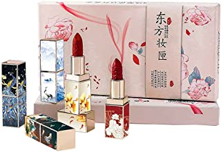 Matte Lippenstift Set Hydraterende, Langdurige Lippenstift Met 5 Kleuren Gladde, Zachte Rode Lippenstift-cadeausets Voor V...
