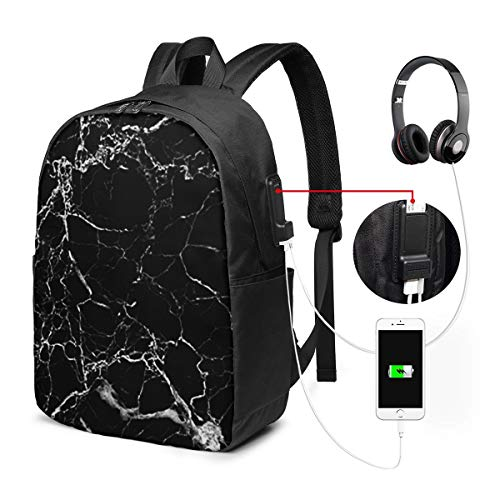 Mochila para El Laptop para Ordenador del Trabajo Viaje Piedra de mármol Efecto Mochila para El Laptop para Ordenador del Trabajo Viaje