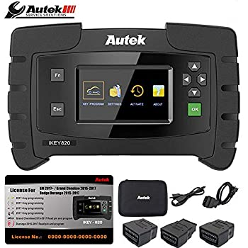 Autek IKEY820 Key Programmer Key Fob Remote Programmer Locksmith Tool with License2 Compatible for Chevy GMC Cadillac
