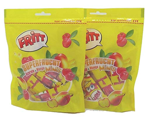 Fritt Superfrucht Minis Kaubonbon Acerola & Mango (2 x 140g)