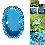 OURLITIME - Flotador hinchable para mascotas, flotador, juguete de agua, patas de remo para perros, piscina, balsas para verano, color azul