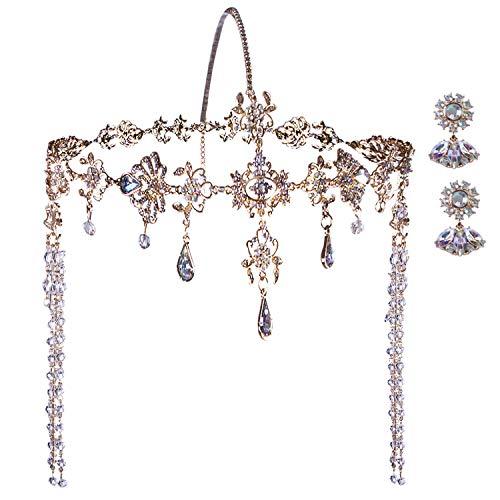 Vijiv Great Gatsby Headpiece + Earrings 1920s Roaring 20s Crystal Flapper Wedding Gatsby accessories Party
