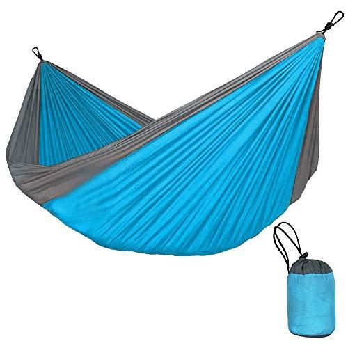 Yaunli Hängematte Hammock Camping-hängendes Bett Tragbarer Schaukel Stuhl Max Last 300KG Outdoor-Freizeit Hängematte (Farbe : Blau, Size : 320x200cm)