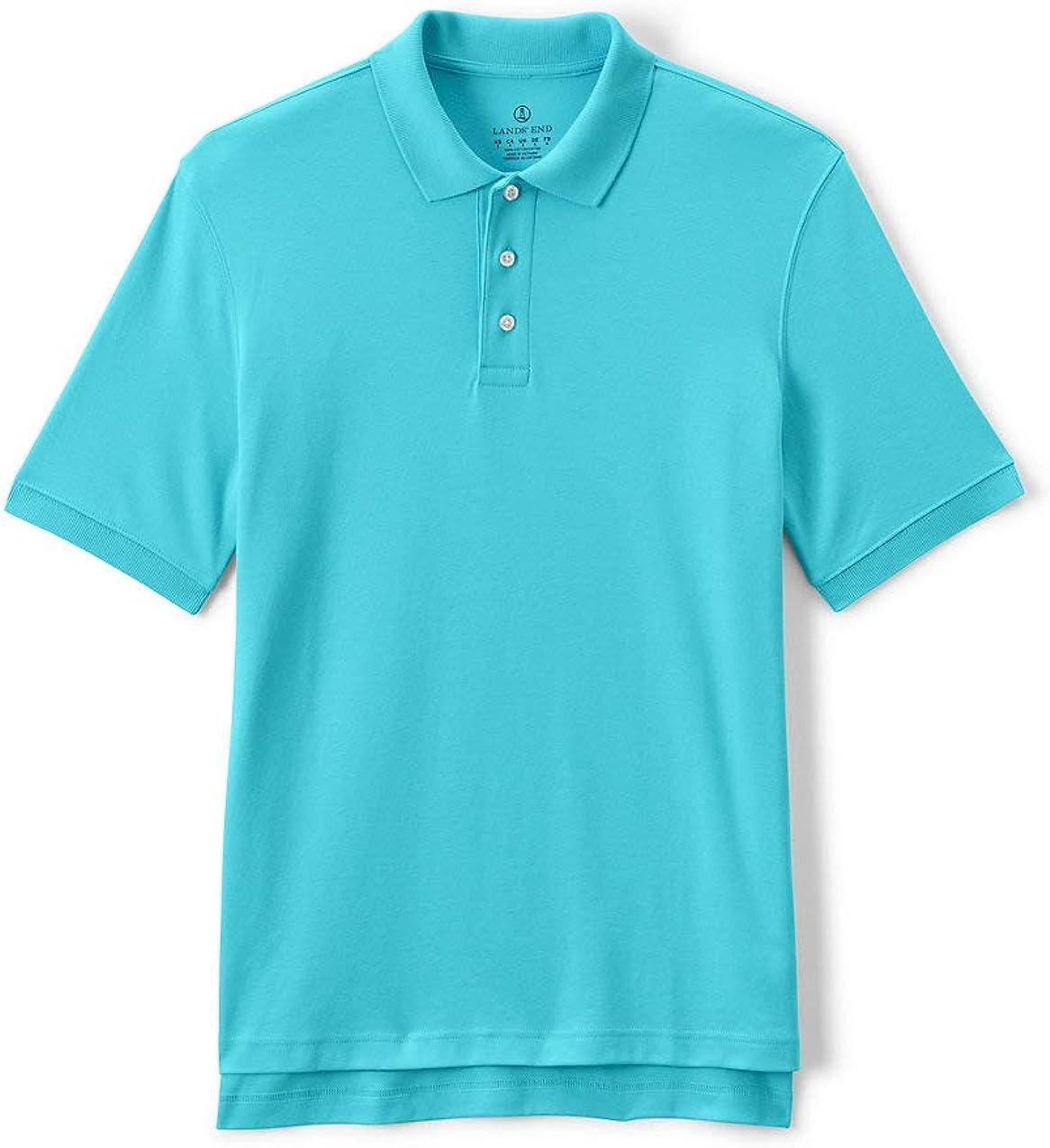 Lands' End School Uniform Men's Short Sleeve Interlock Polo Shirt