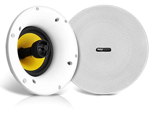 """WiFi Bluetooth Ceiling Mount Speakers - 6.5"""" in-Wall/in-Ceiling Dual Active & Passive Speaker System (2) Flush Mount w/ Powerful 270 Watts Remote Control & MUZO Player Compatible - Pyle PDICWIFIB62"""