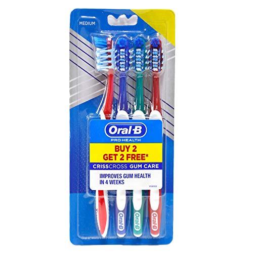 Oral B Pro-Health Gum Care Toothbrush, Medium, (Buy 2 Get 2 Free)