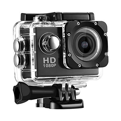 アクションカメラ、12MP 500Wピクセル2インチ液晶画面防水スポーツカム、900Mah充電式取り外し可能なバッテリー
