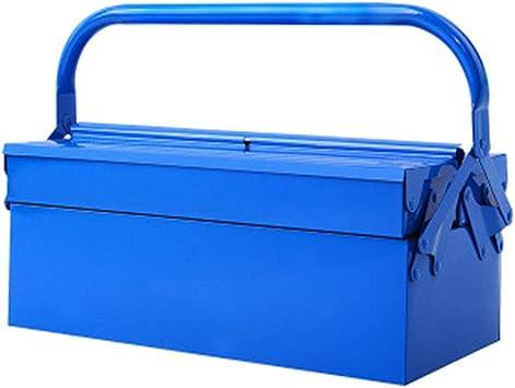 Caja Metalica Cantilever,Caja Herramientas Metálicas,De 2 Niveles Con Caja De Almacenamiento Plástico,Maletín De Transporte Para Almacenamiento De Herramientas (410 × 200 × 160 Mm),A: Amazon.es: Bricolaje y herramientas
