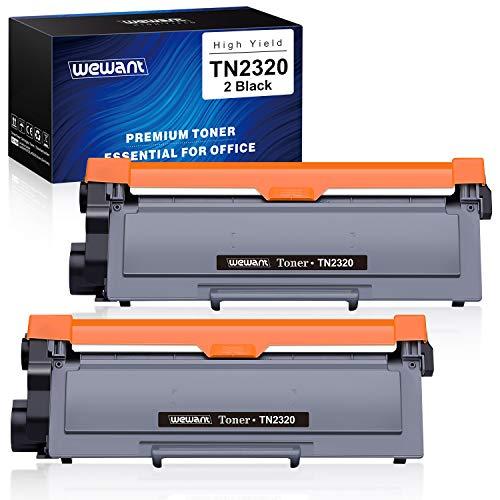 Wewant Toner TN 2320 TN 2310 Ersatz für Brother TN2320 TN2310 Tonerkartusche Kompatibel mit Brother MFC-L2700DW L2720DW L2740DW, DCP-L2500D L2520DW L2540DW, HL-L2300D L2340DW L2360DW, 2 Schwarz
