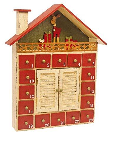'LD decorazioni di Natale Calendario dell' Avvento 'Winter capanna in legno per bambini Natale Calendario stesso riempimento