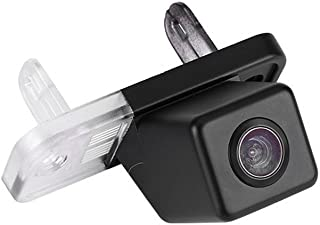 Navinio Waterproof Backup Camera Color Car Rear View Camera 170 Degree Angle License Plate for Mercedes C E CLS Class W203 W211 W219 W209 SLK R171(No. 2 Size 2565mm Up Round Edge)