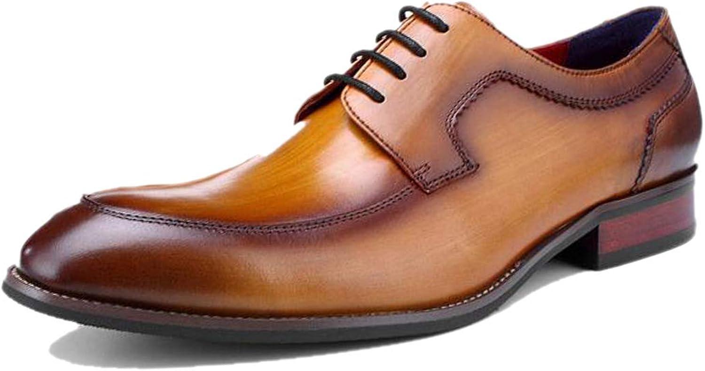 Derby England Handmade Herren Business Schuhe Atmungsaktiv Braun Schwarz Party Work Dress Formal Four Seasons