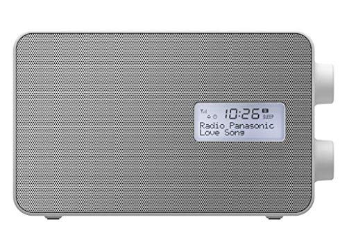 Panasonic RF-D30BTEG-W Radio Digitale DAB+ e Musica Wireless Bluetooth, Resistente agli Spruzzi, Stazione di Ricarica per Smartphone, FM, Equalizzatore, Altoparlante full-range, Sveglia, Timer, Bianco