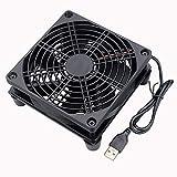 GDSTIME Router Cooling Fan DIY PC Cooler TV Box Wireless Silent Quiet DC 5V USB Power 120mm Fan 12CM