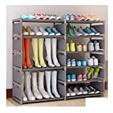 <span class='highlight'><span class='highlight'>GYC</span></span> .1 Shoe Rack-wrought Iron Multi-layer Assembly Storage Shoe Rack Modern Minimalist Dust-proof Shoe Cabinet Boots Style .2 (Color : C)