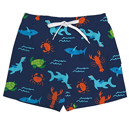 Vogseek GroßE Jungen Badehose Nette SchildkröTe Druckt Drawstring Schnelle Trockene KurzschlüSse Beachwear FüR Das Schwimmen Im Sommer, Blau