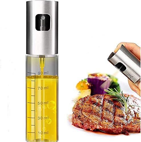 hong para cocinar/Ensalada/panadería/Barbacoa, Cocina, pulverizador de Aceite de Oliva, pulverizador de vinagre, 304 Cilindros de Vidrio Inoxidable, 100 ml