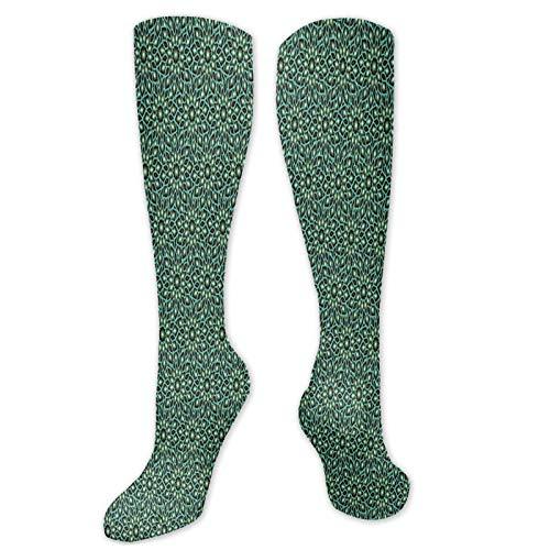 Calcetines de compresión para hombre y mujer, de estilo shabby ornamental, de Oriente Medio, cómodos, suaves y cómodos, de ajuste largo, frescos y coloridos