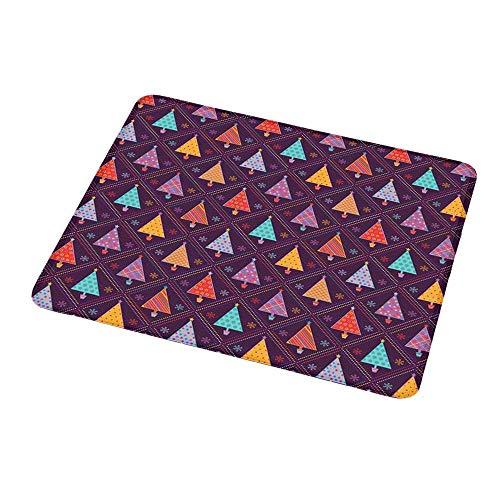 Maus Padwrist Unterstützung Weihnachten, bunte Dreieckbäume in Töpfen mit festlichen Mustern Rhombus Celebration Icons, Multicolorfor Computer
