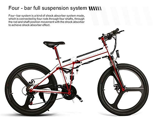 SHIJING 26 Pulgadas de neumáticos Samebike LO26 Inteligente Plegable Bicicleta eléctrica 350W Motor ebike 10Ah batería MAX 35 kmh Bicicleta eléctrica