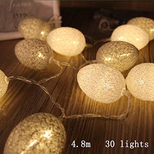 Ostereier LED Lichterketten, 1,8 M-4,8 M Bunte Baumwollfaden Fairy Light Batteriebetriebene Dekorationen für Haus Ostern Baum Balkon Im Obergeschoss Schlafzimmer Geländer Party Frühlingsdekoration