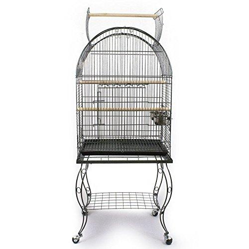 Pet's Solution Gabbia Voliera per pappagalli parrocchetti calopsiti con Carrello